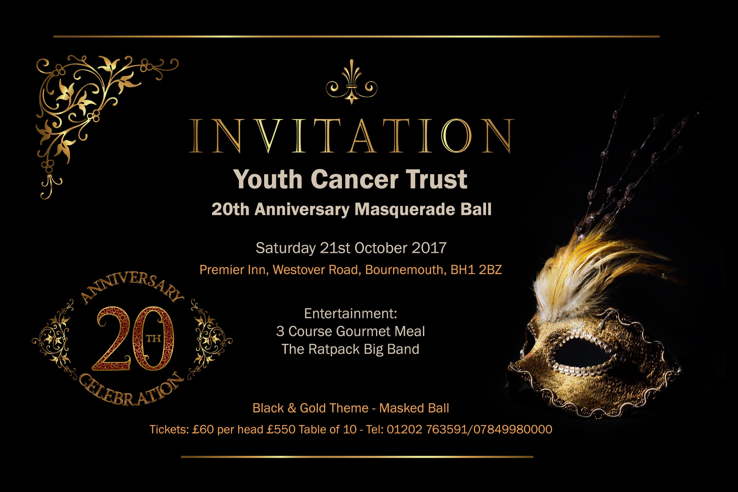 Masquerade Ball To Celebrate 20 Years Of The Youth Cancer Trust