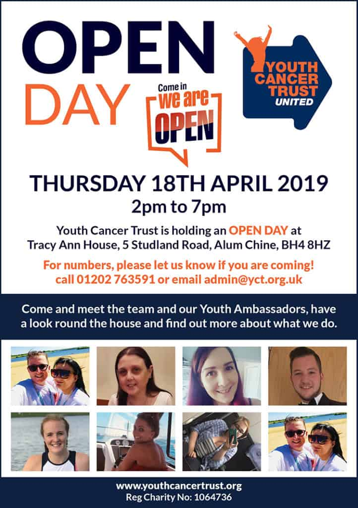 open day youth cancer trust